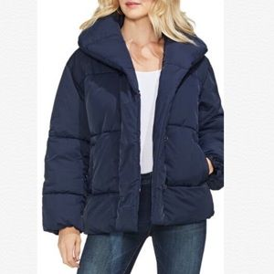 VINCE CAMUTO NAVY QUILTED PUFFER WINTER JACKET